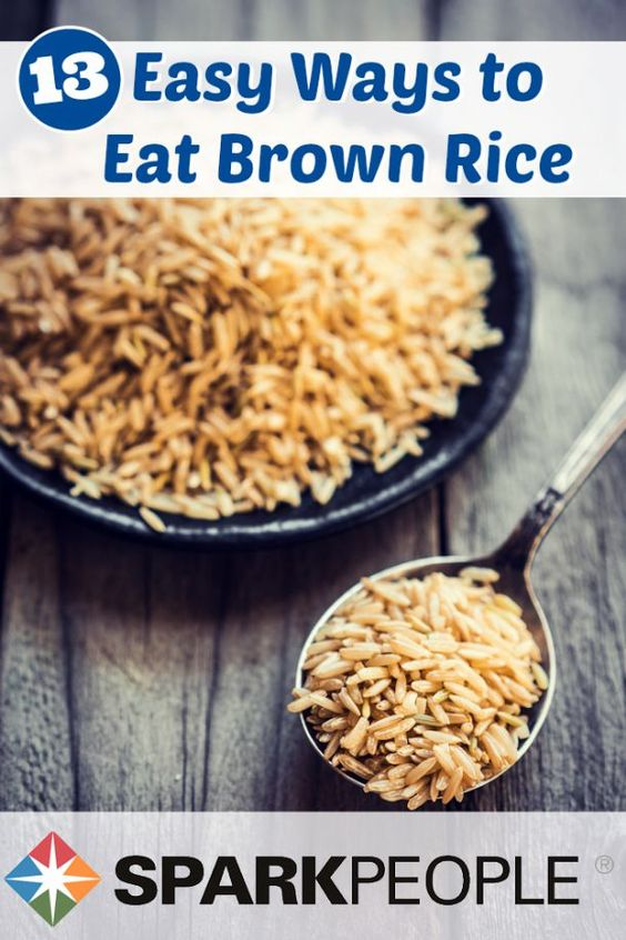 13 Easy, Tasty Ways to Eat Brown Rice. Can't wait to add this healthy rice to my diet! | via @SparkPeople #healthyliving #brownrice
