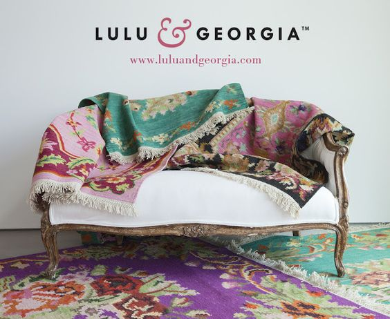 """Lulu & Georgia, a new online boutique offering """"rugs, decor and accent pieces for the inspired space"""", launches next week (Oct. 1). Here's a little sneak peek!"""