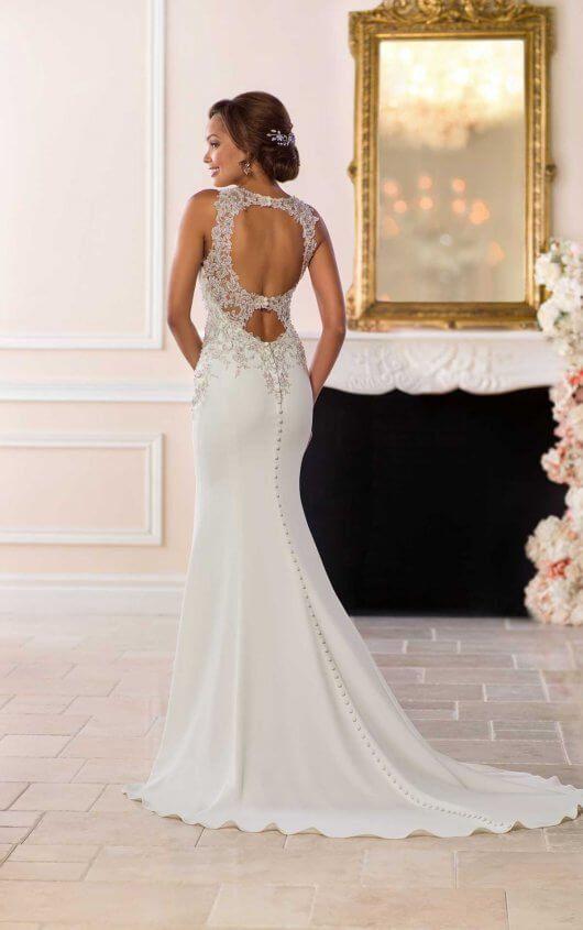 Vintage Wedding Gown With Silver Beading Wedding Dresses Satin Stella York Wedding Dress York Wedding Dress
