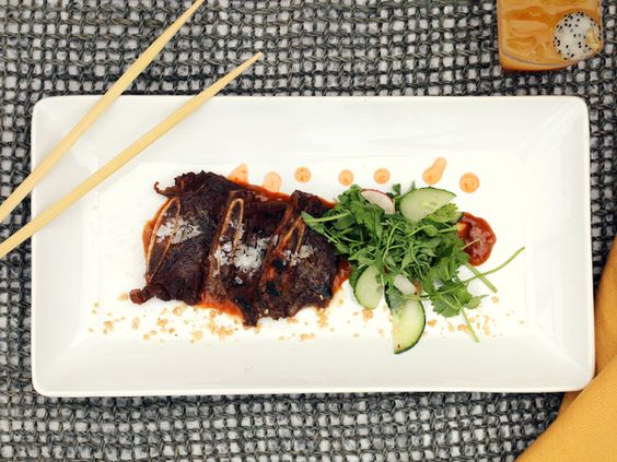 Szechuan Beef Short Ribs wit tamarind glaze, scallion and lime - and that's just the appetizer. #thischangeseverything