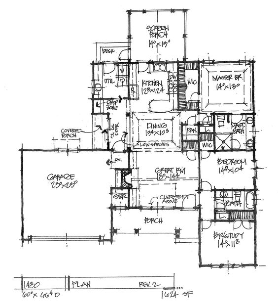 CONCEPTUAL HOUSE PLAN 1480 MODEST AND MODERN