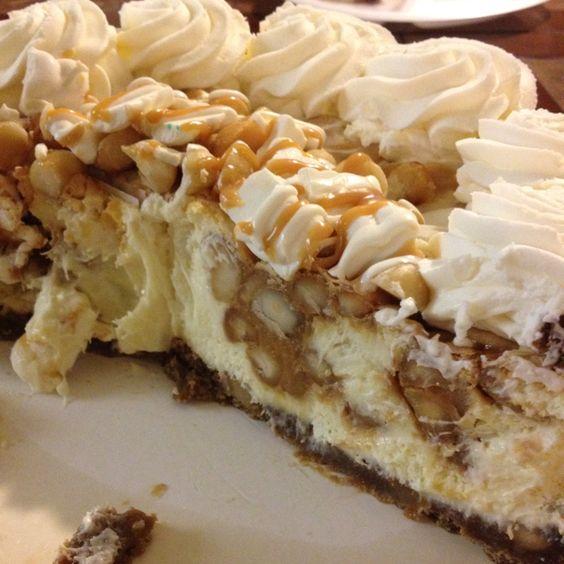White chocolate caramel macadamia nut cheesecake :)   FOOD: Cheesecake ...