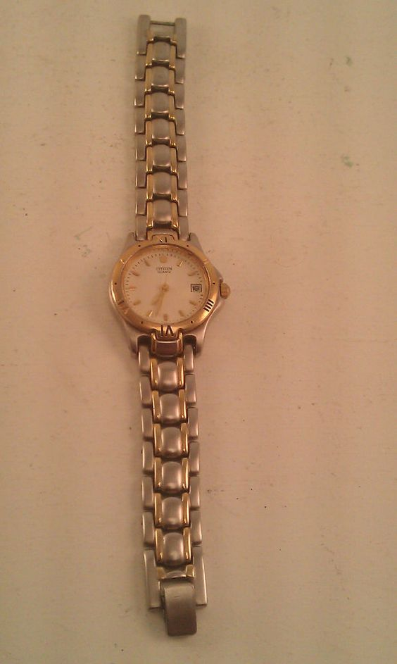 Vintage Citizen Women's Wrist Watch Two Tone Silver & Gold Plated for Parts Only