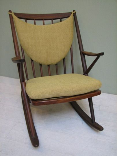 Vintage Rocking Chair. Love the cushions