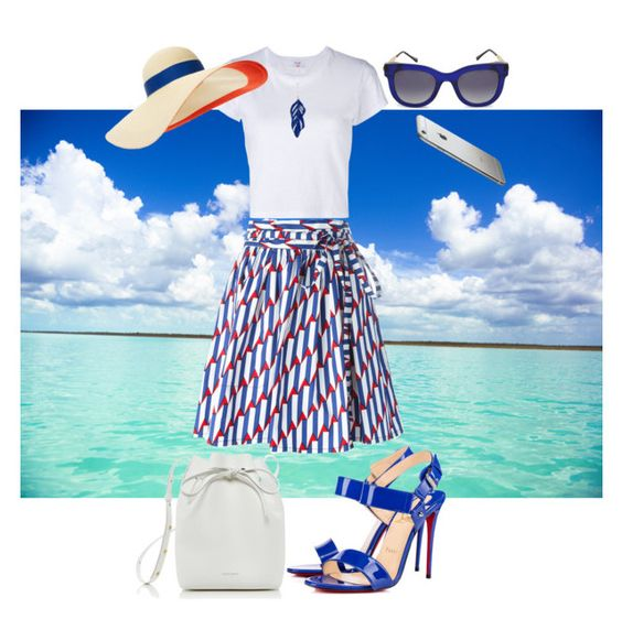 Dreaming of sand and sunshine by katrina259 on Polyvore featuring polyvore, fashion, style, RE/DONE, Marc Jacobs, Christian Louboutin, Mansur Gavriel, Aurélie Bidermann, Eugenia Kim, Thierry Lasry and clothing