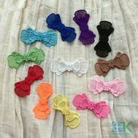 Wholesale 12 PC/ Lot 3.5cm 3D Handmade Floral Headwear For Wedding Party Dress Tops Lace Fabrics high quality SK#1133