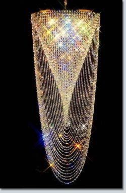 Missy owned the most AMAZING crystal chandelier in her foyer... Spiral Swirl Crystal Chandelier