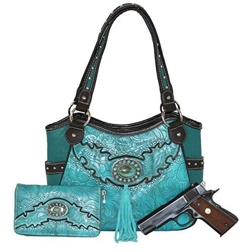 Montana West - Concealed Carry Turquoise Concho Gun Purse with Matching Wallet (Turquoise) Montana West http://www.amazon.com/dp/B00TJFVB28/ref=cm_sw_r_pi_dp_WgwRvb1X42PJJ