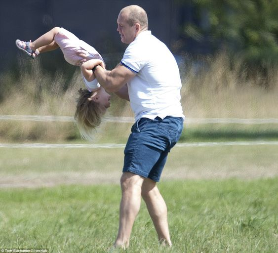 Adorable:By her father's own admission, Mia Tindall has got 'quite a little personality on her', and judging by these pictures, the young daddy's girl has plenty of energy, too