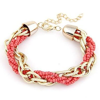Metal Chain Beads Bracelet  – USD $ 4.99