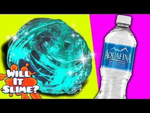 Will It Slime Testing Water Slime Diy No Glue Slime Youtube