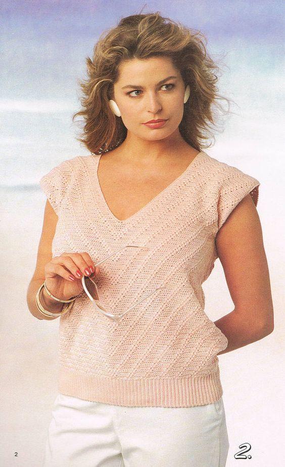 32 Best Images About Cgh On Pinterest: Crochet Pattern V Neck Sleeveless Summer Top Women's
