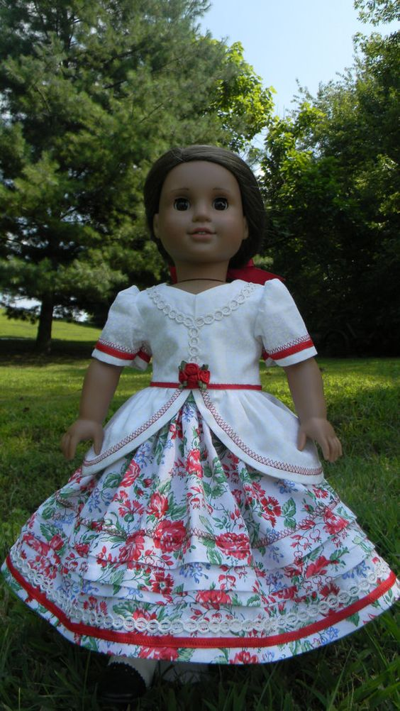 18 inch Doll Gown Civil War Style gown with by DollGownsByWendy