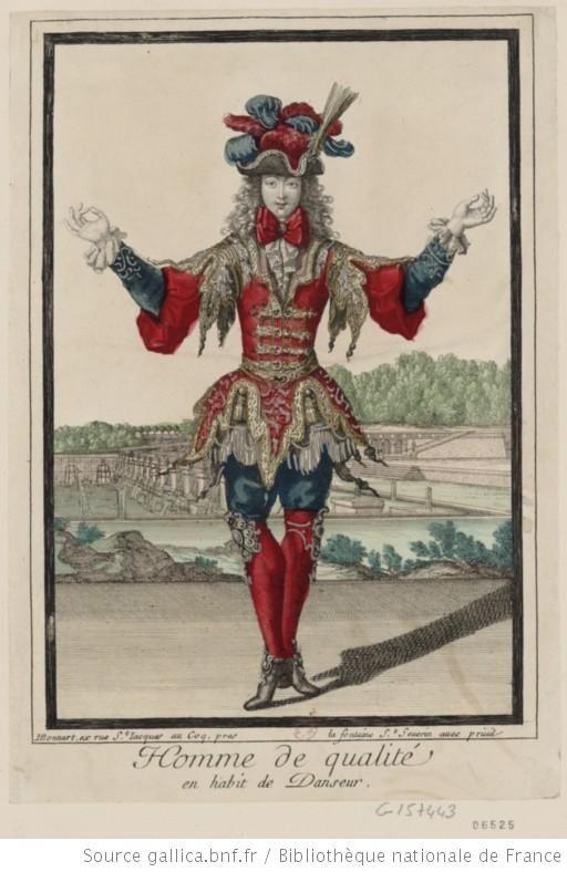 Homme de qualité en habit de danseur : [estampe] - 1700
