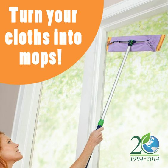 Norwex Cleaning Cloth Glass: The Mop Brackets Provide A Way To Use The Window Cloth Or