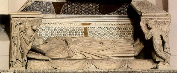 Tomb of Cardinal de Braye (detail) by ARNOLFO DI CAMBIO #art