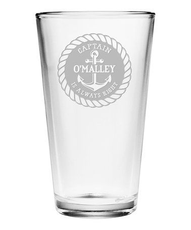 This Captain Is Always Right Personalized Pint Glass Is Perfect