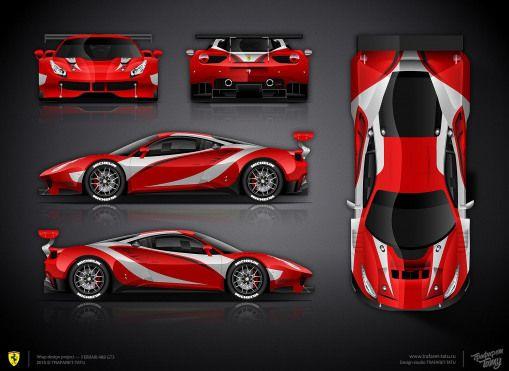 The Approved Livery Design For Ferrari 488 Gt3 Ferrari458