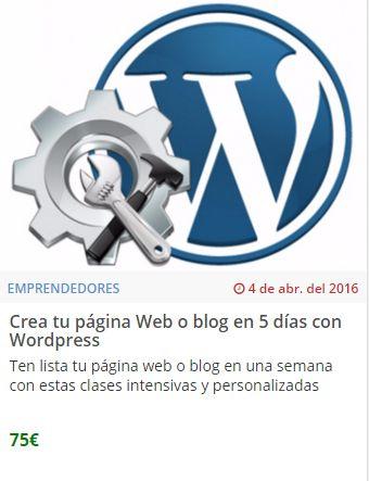 Crea tu página Web o blog en 5 días con Wordpress