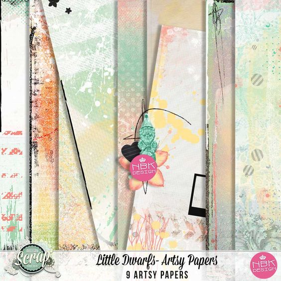 Little Dwarfs - Artsy Papers [nbk-312] - 2,24EUR : ArtisanScrap