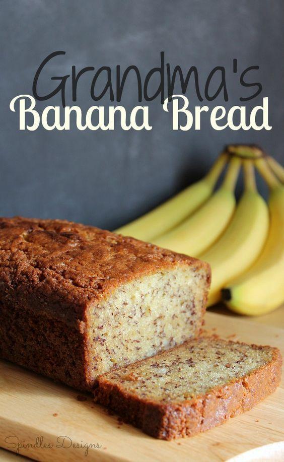 Grandma S Banana Bread Recipe Banana Bread Sour Milk Recipes Banana Nut Bread Recipe Moist