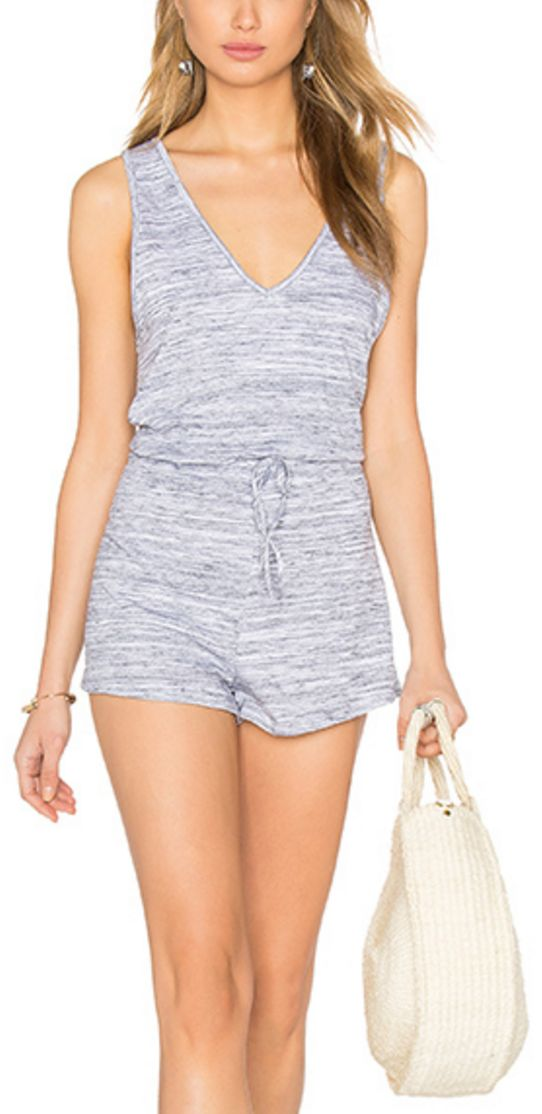 Heathered Grey Comfy Sporty Romper