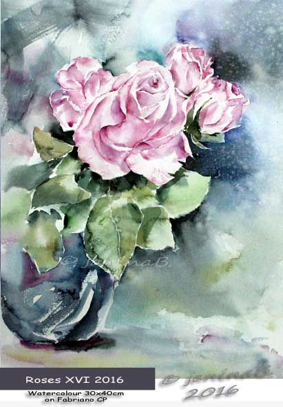 Roses XVI 2016 / Watercolour 30x40cm on Fabriano CP © janinaB. 2016