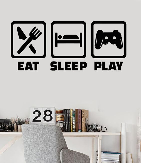 Vinyl Wall Decal Gaming Lifestyle Video Game Playroom Teen -1330