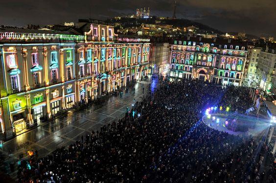 Fête des Lumières, Lyon, FRANCE, 08/12/12.
