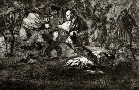 Francisco de Goya - Disparate Fúnebre (Disparates 18)