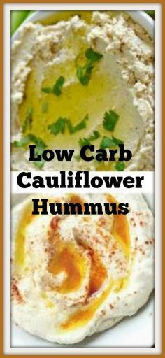 Healthy Low Carb Roasted Cauliflower Hummus Recipes #carbswitch Please Repin
