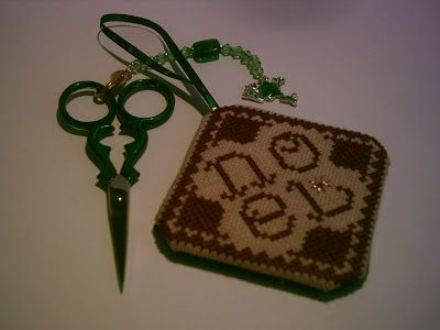 The Worlds Largest Collection of Smalls TOO: Cats Whiskers - Noel Ornament stitched by Elisa