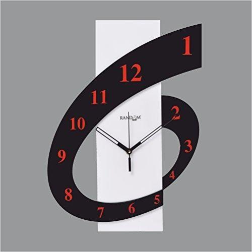 Random Clocks Rectangle High Grade Polymer Wall Clock 30 Cm X 25 Cm X 5 Cm Wall Clock Design Wall Clock Modern Clock Design