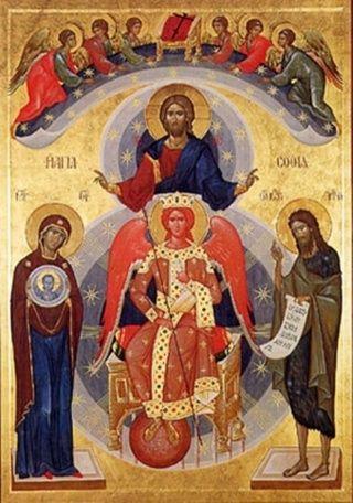 София – Премудрость Божия (Новгородская) икона Божией Матери: