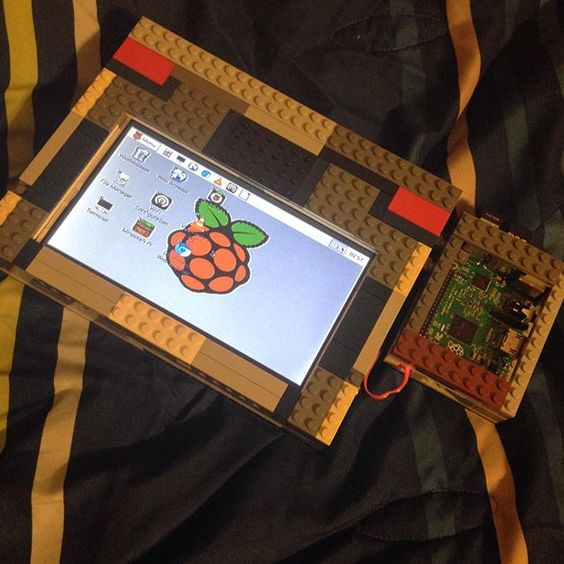 Something we loved from Instagram! Rebuilt my portable raspberry pi using Lego bricks! The pi is now external to the screen allowing for better ventilation and access to the GPIO! #pi #raspberry #raspberrypi #pi2 #portable #lego #diy #homebrew by jonathankayne Check us out http://bit.ly/1KyLetq