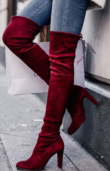 Cranberry Swede Boots: