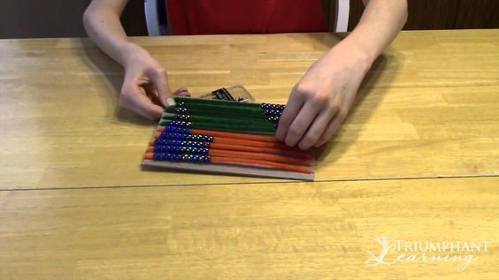 Make the stair step pattern with an abacus