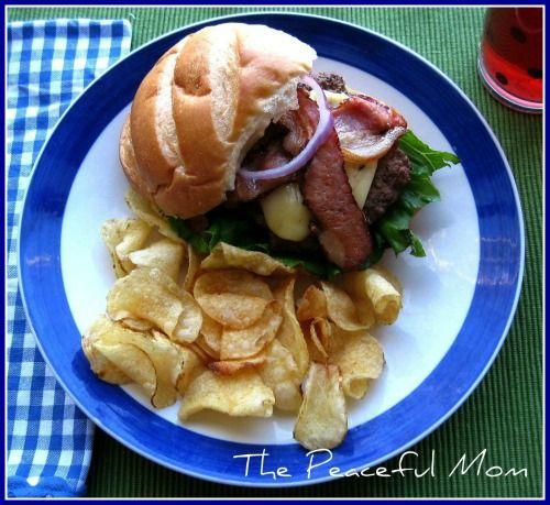 BBQ Pepper Jack Bacon Burgers--you'll never eat a regular burger again!