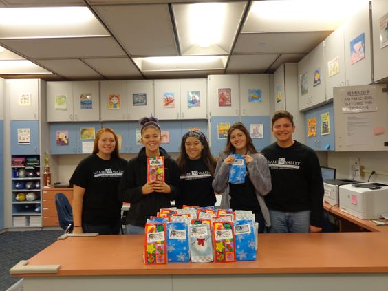 ENGLEWOOD — The Miami Valley Career Technology Center (MVCTC) Early Childhood FCCLA Chapter participated in 'Operation Give Back' collecting donations for Blue Star Moms' and Operation Gratitude.