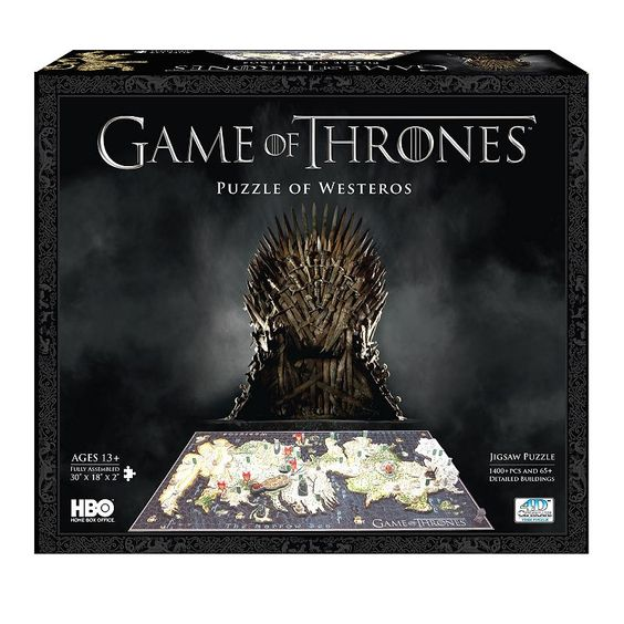 4D Cityscape Game of Thrones: A Guide to Westeros Time Puzzle, Multicolor