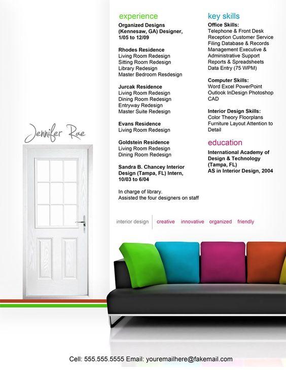 Resume - Interior Design   Resumes   Pinterest   Interiors