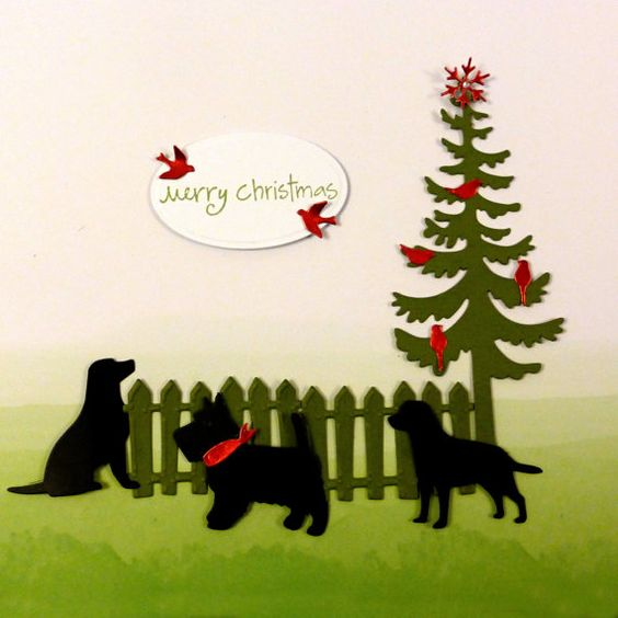 Die Cut Shapes of Christmas Trees Dogs Friends by MelAriandme