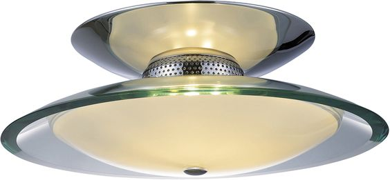 Curva 3-Light Flush Mount shown in Polished Chrome by ET2 Lighting