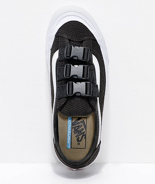 outlet store 743b2 8d8e1 Vans Style 36 Black  White Mesh Buckle Skate Shoes  Shoes  Vans style,  Skate shoes, Shoes