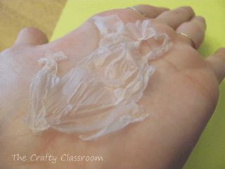 use Elmer's glue and peel to show skin