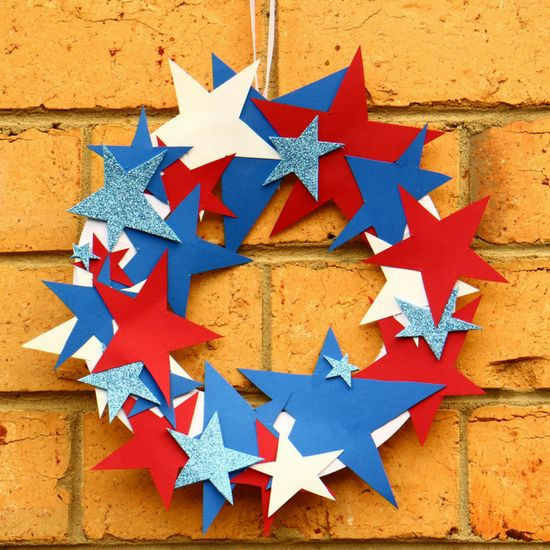 4th Of July Easy Crafts For Kids Paper Plate Wreath Paper
