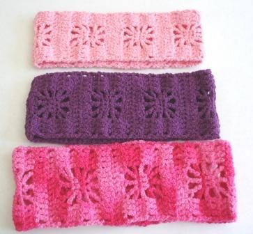 CHARITY CRAFTS PLACE: NEW, ORIGINAL,Spider stitch crocheted stretchy hairband pattern!!