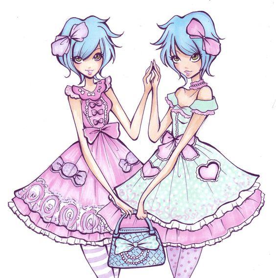 Lolita twins by Nina-D-Lux.deviantart.com on @deviantART