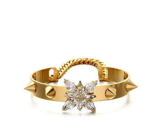 Gold Spike Joey bangle from aliceschicboutique.com