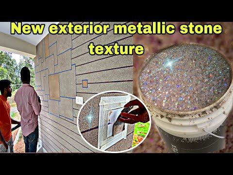 New Exterior Granext Glitter Stone Texture Wall Designing Simply House Wall Designing Latest Youtube House Wall Design Wall Texture Design Stone Texture Wall